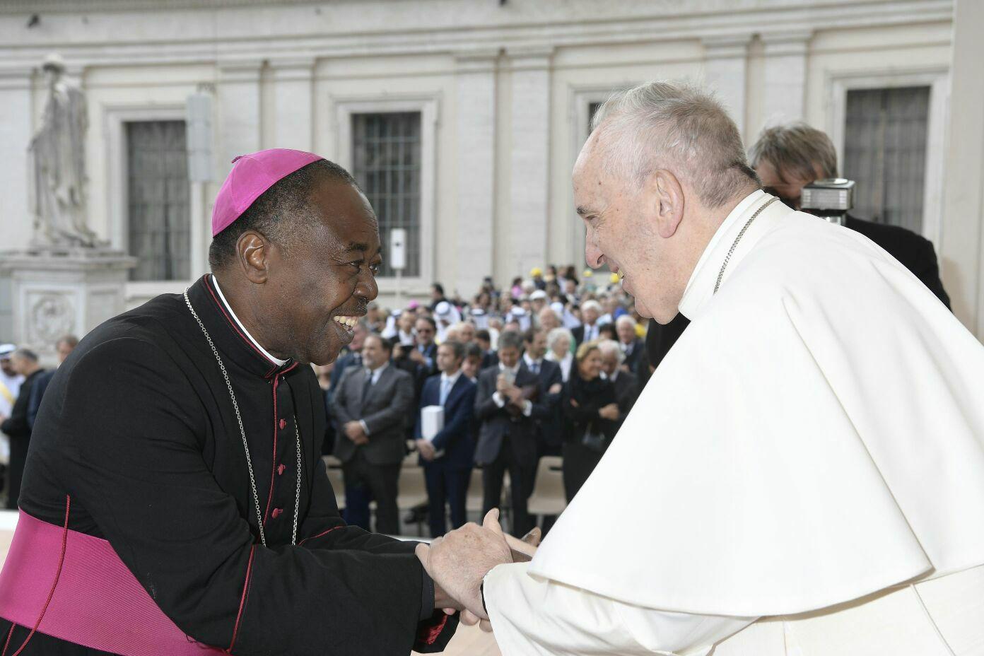 Bishop ADOBOH meets Pope FRANCIS