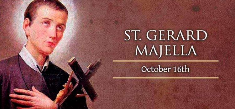 Happy feast day to you all: May St. Gerard enkindle within our hearts spark of heavenly fire of charity towards others.