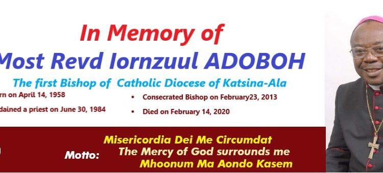 Burial schedule of Bishop ADOBOH
